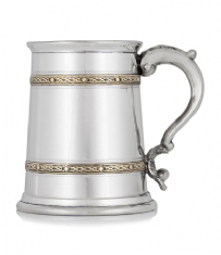 1 Pint Tankard with 2 Brass Bands
